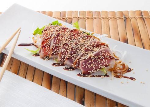 8 filetti di tonno scottato