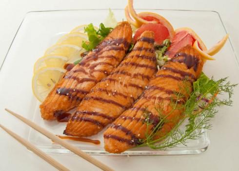 SAKE TEPPANYAKI - Filetto di salmone alla piastra